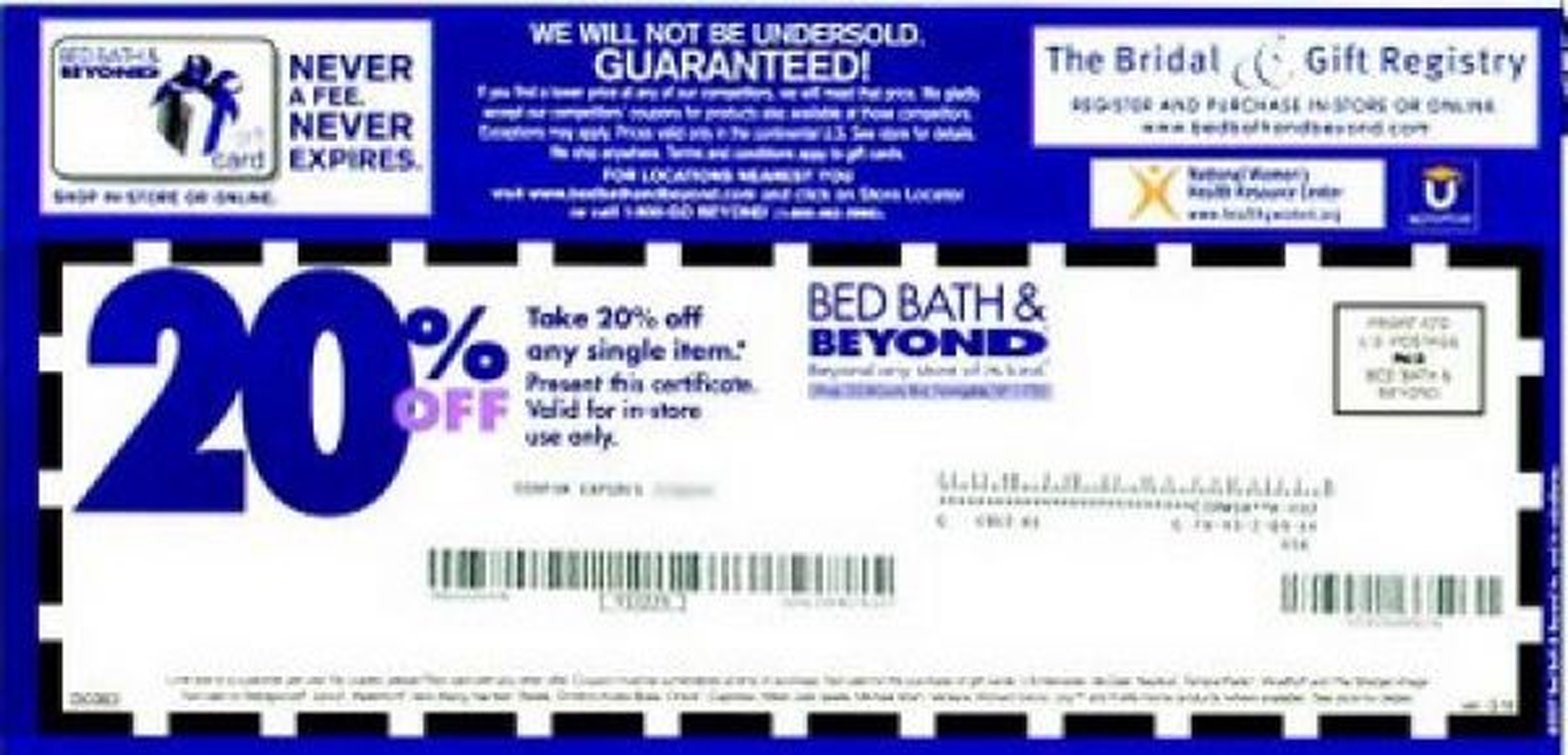 bed bath and beyond online coupons november 2019