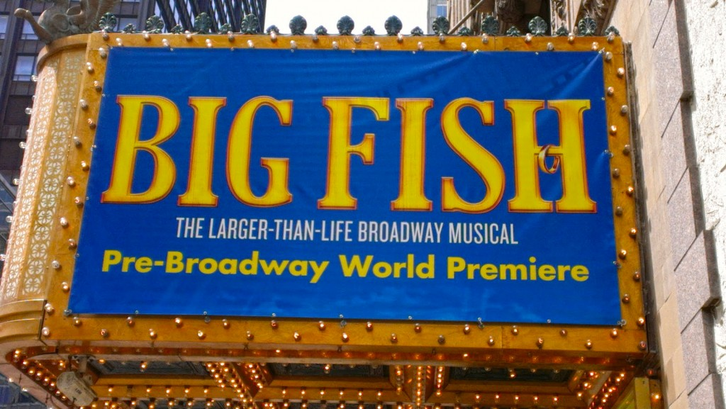 Broadway bullets and broadway bound for Big fish broadway