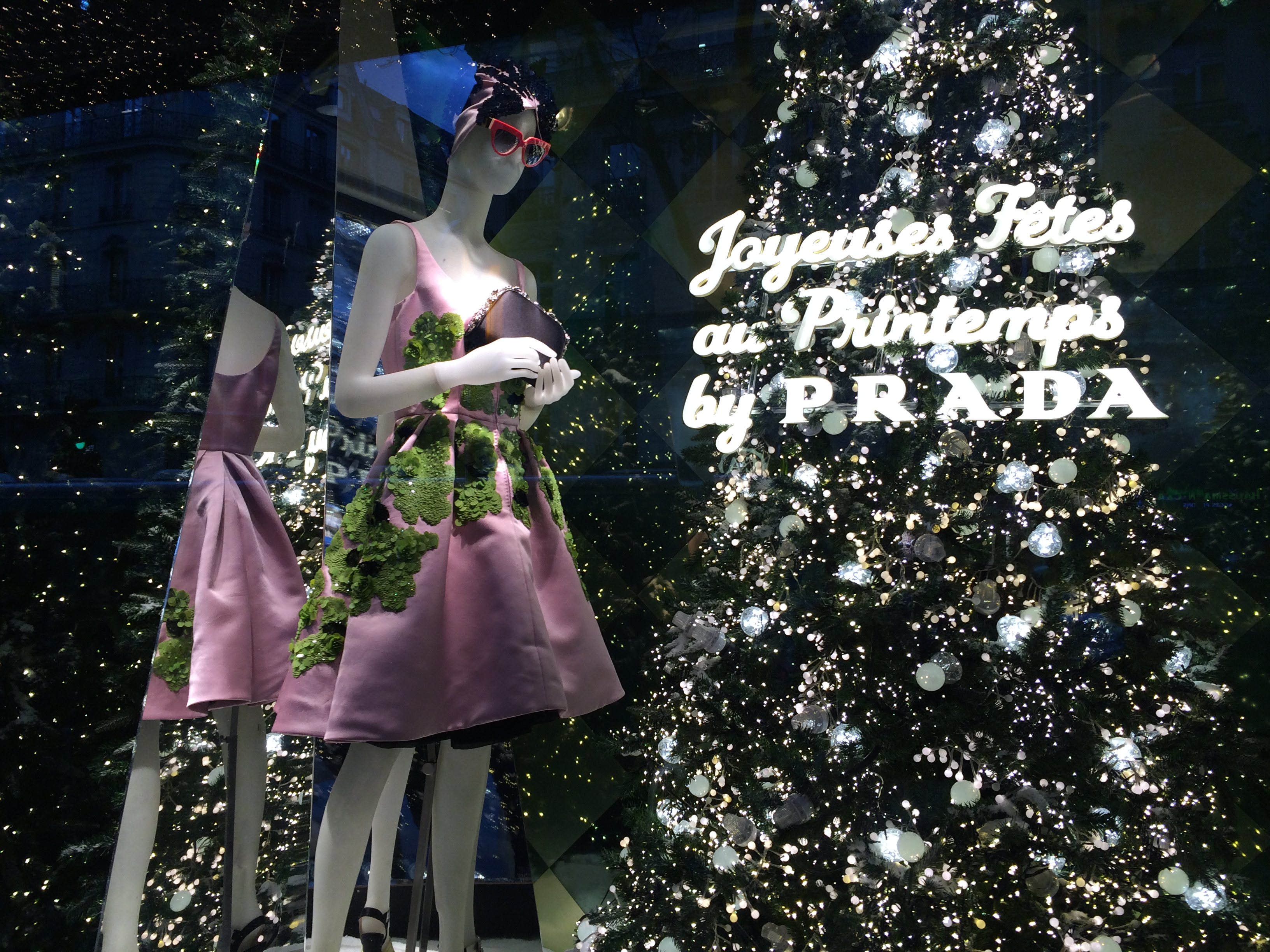Prada Christmas Window at Printemps Department Store