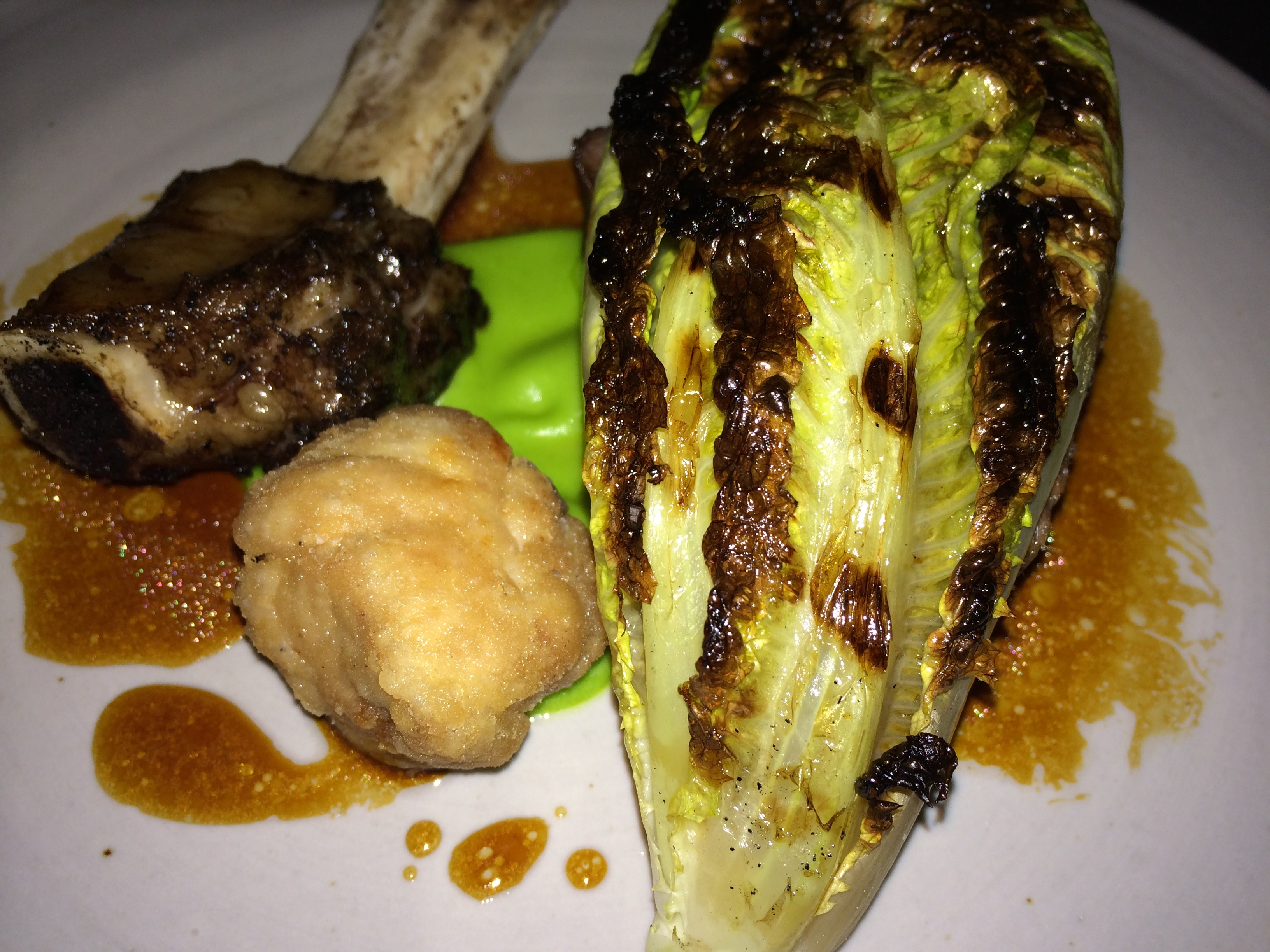 Grilled Short Rib, Romaine, Sweetbread