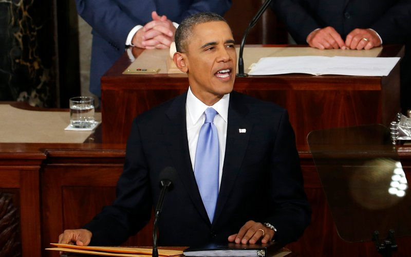 Presidential Blue Tie