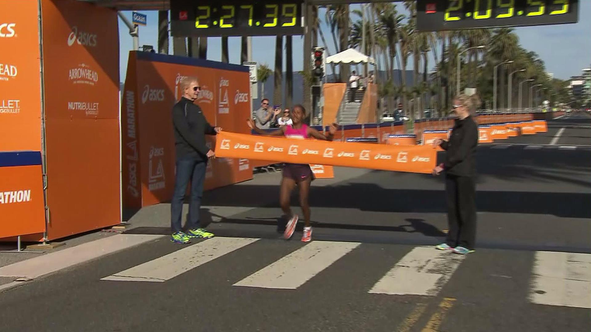 Amane Gobena, 2014 LA Marathon Winner