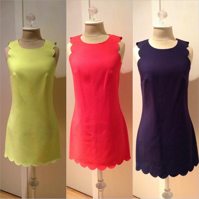 JCrew Scallop-Edged Dress
