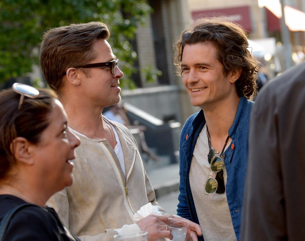 Brad Pitt, Orlando Bloom Photo/NY Daily News