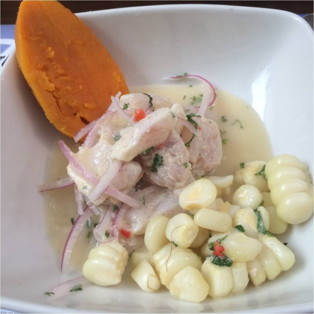 My Ceviche With Sweet Potato, Flounder, Corn