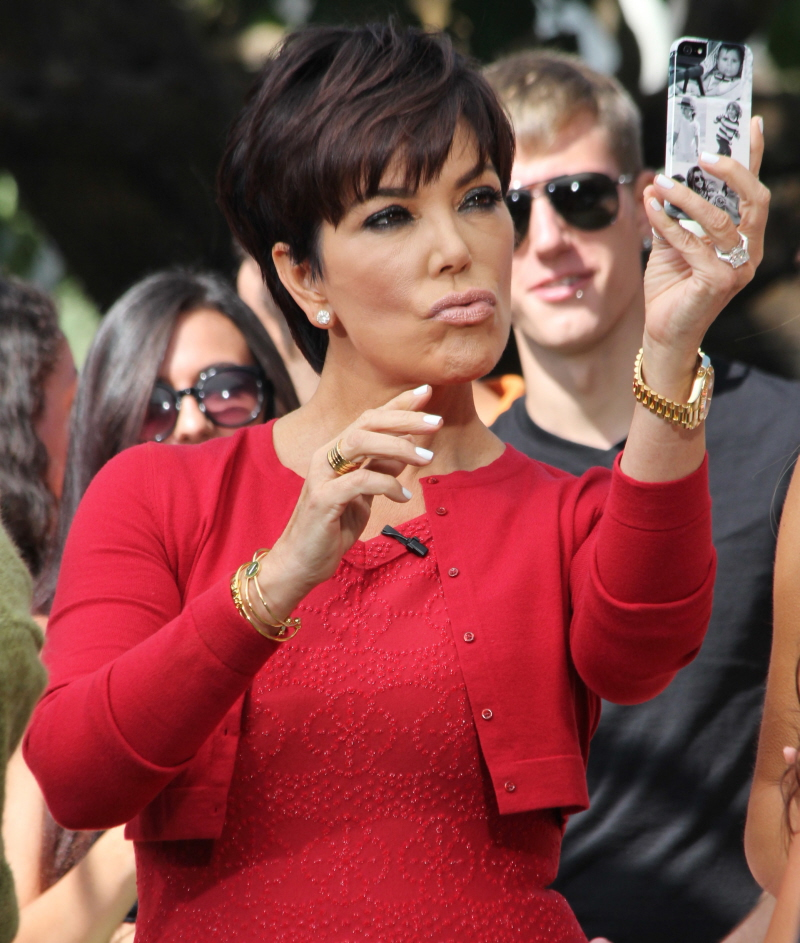 Kris Jenner Duck Mouth