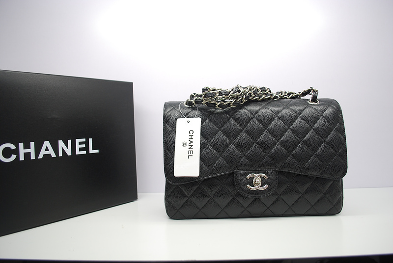 Chanel Jumbo Double Flap Caviar Bag