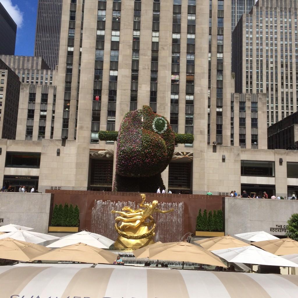 Split-Rocker by Jeff Koons at Rockefeller Center