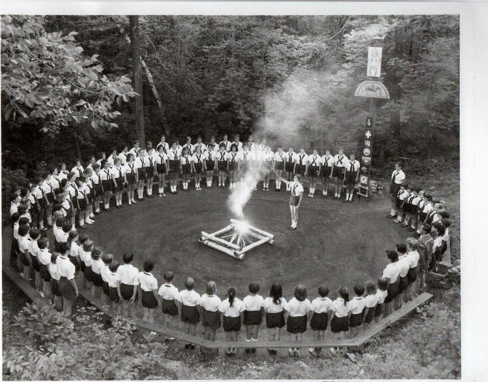 Camp fire AT Camp Po-Ne-Mah