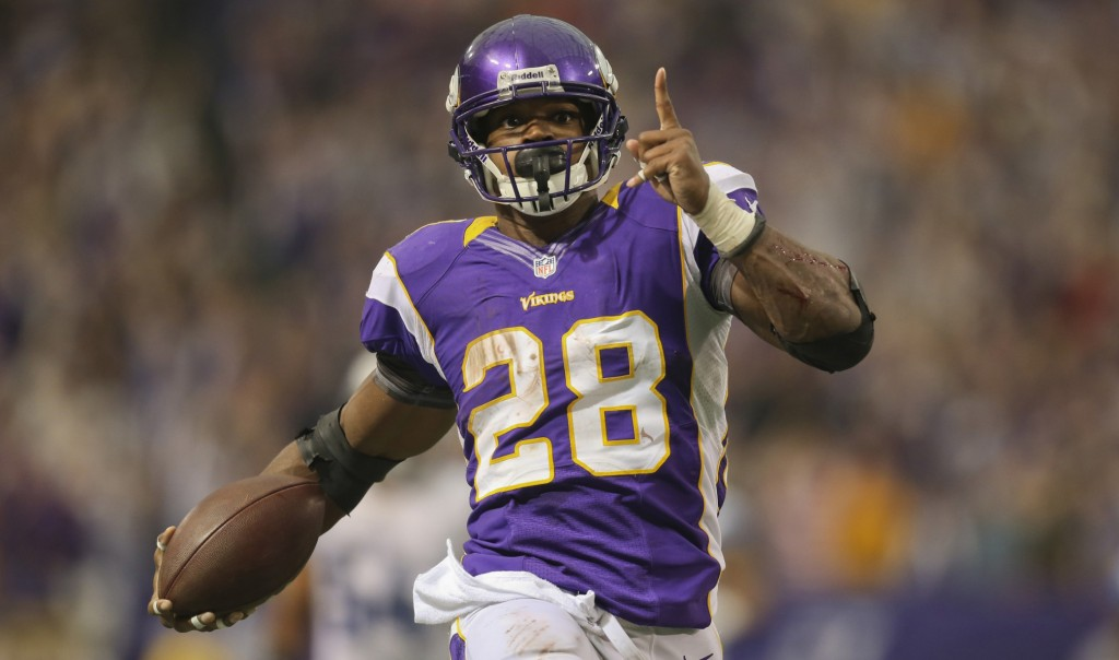 Minnesota Vikings Running Back, Adrian Peterson  photo: rotoviz.com