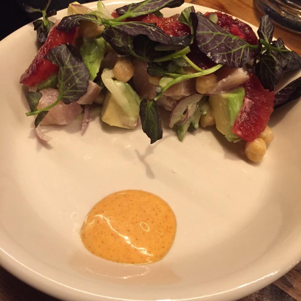 Raw Hamachi Salad