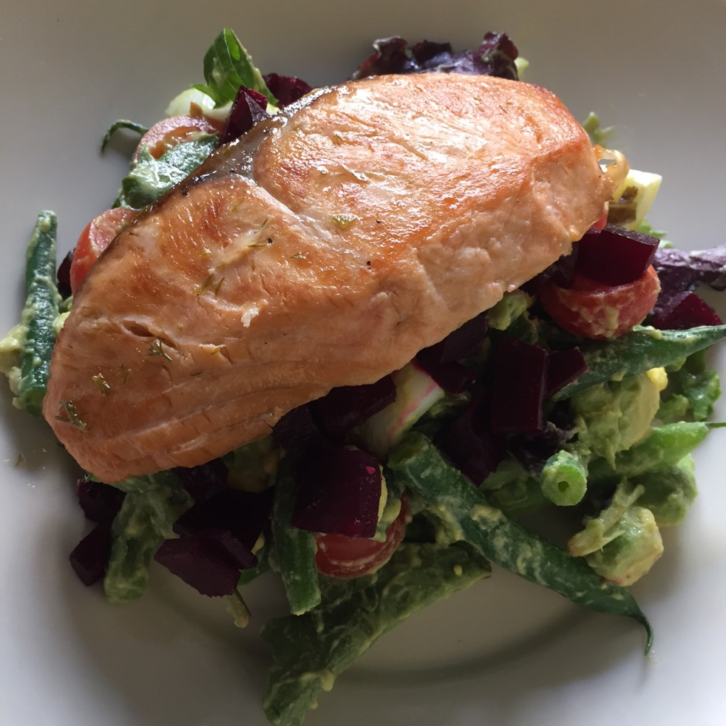 Salmon Chopped Salad