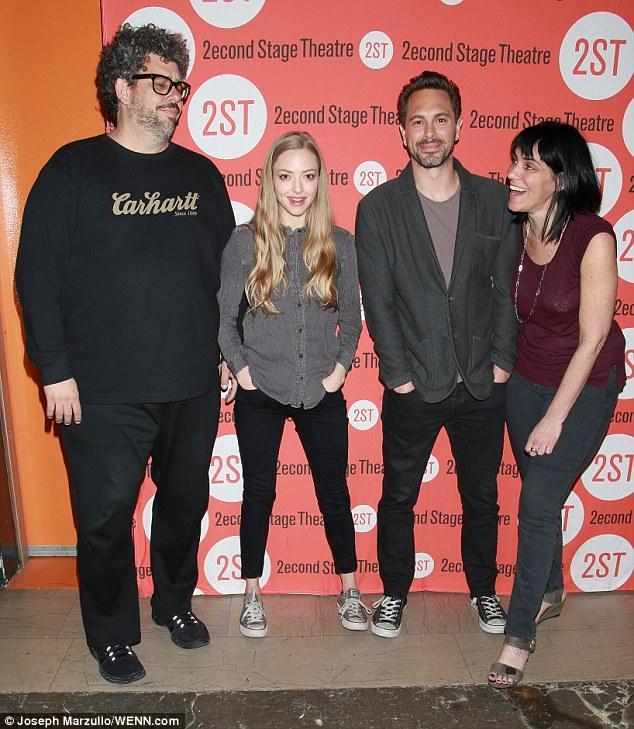 Neil LaBute, Amanda Seyfried, Thomas Sadoski, Leigh Silverman  photo: