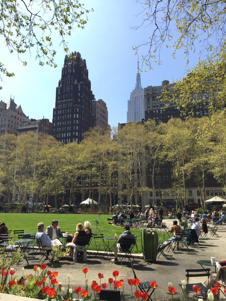 Bryant Park w/ Empire State Building