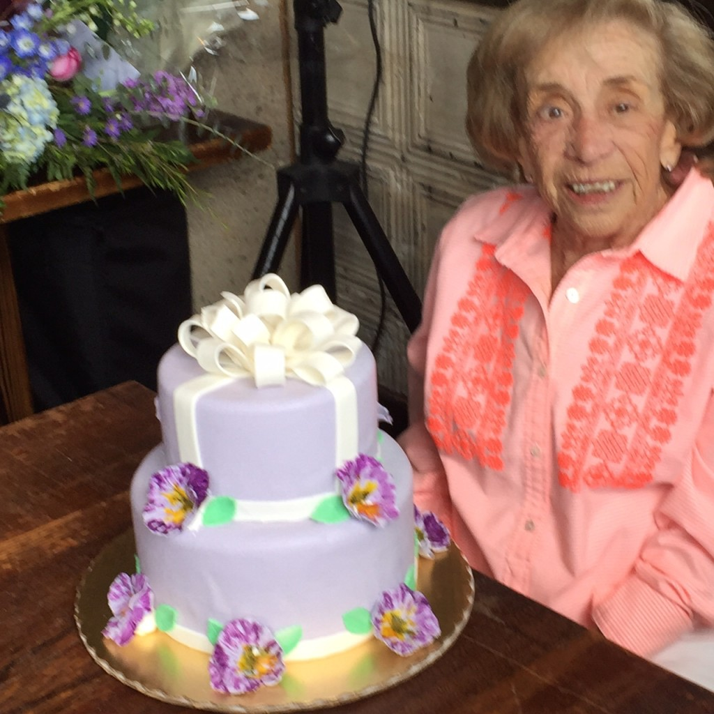 My mom & Her Birthday Cake