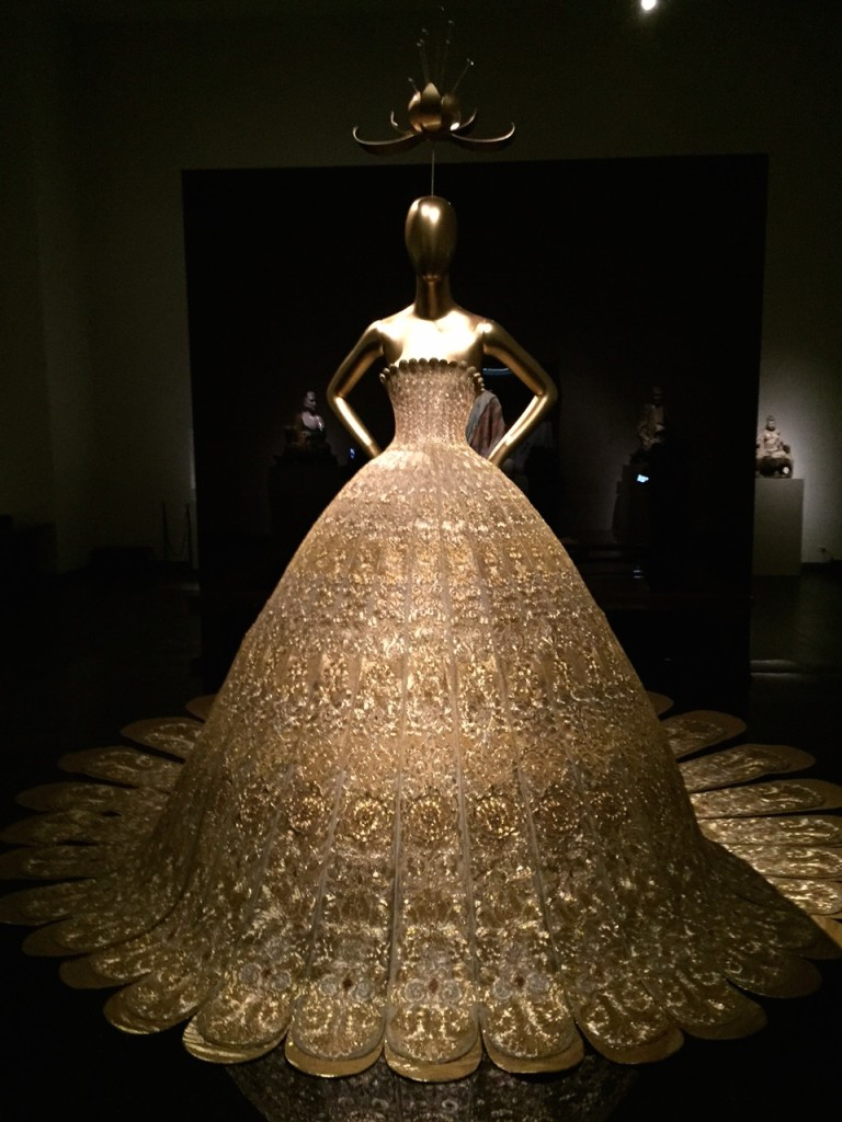 2007 Gold Lame Gown by Chinese Couturier, Guo Pei