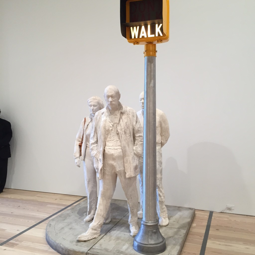 George Segal, 'Walk, Don't Walk' 1976