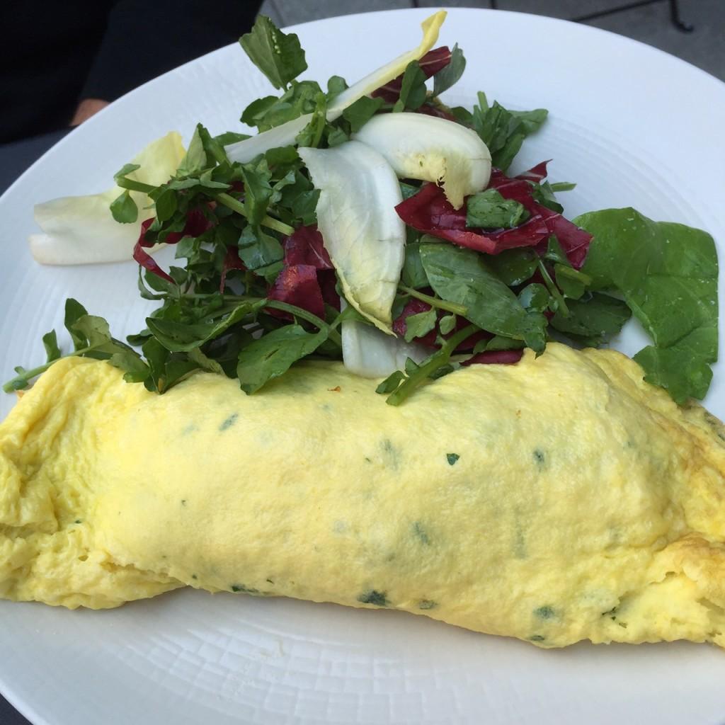 Fresh Herb Omelette, little park