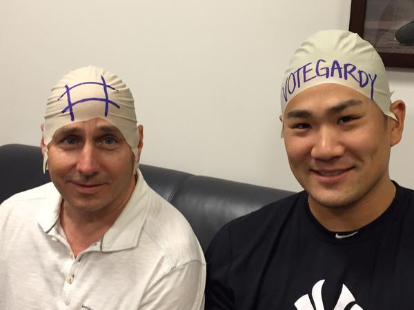Yankee GM, Brian Cashman, Yankee Pitcher, Masahiro Tanaka