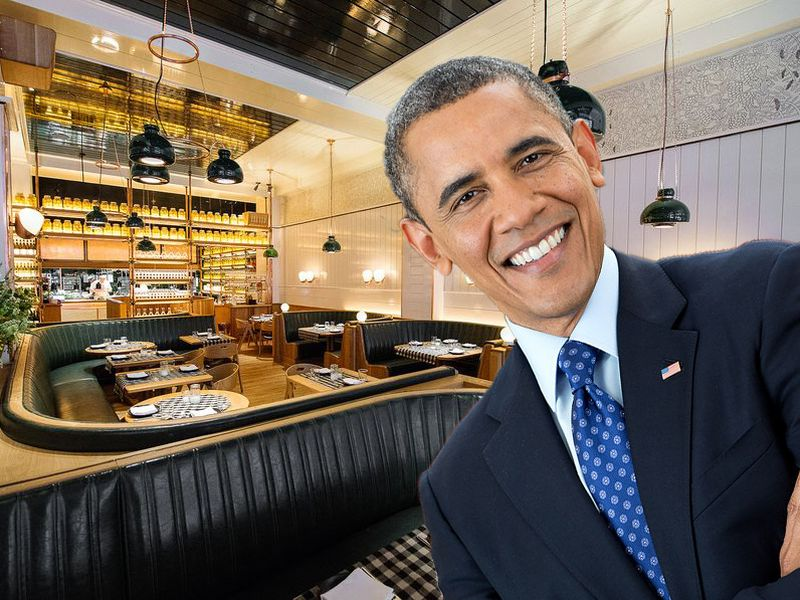 President Obama At Upland  photo:eater.com/Daniel Krieger