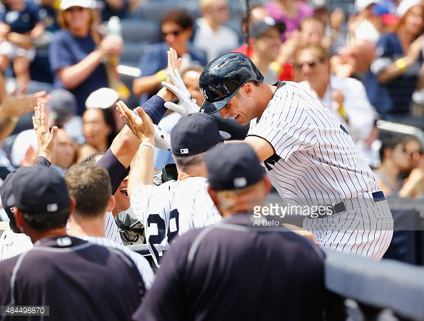 Greg Bird After His 1st HR photo:getty images