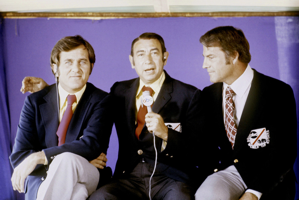 Don Meredith, Howard Cosell, Frank Gifford  photo:thebiglead.com
