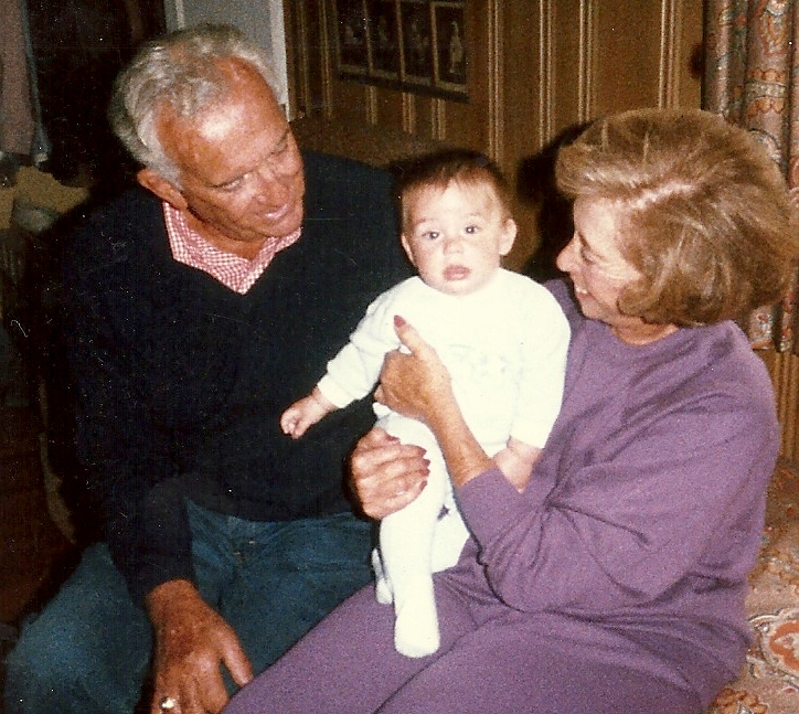 Courtny with Nonnie & Poppie