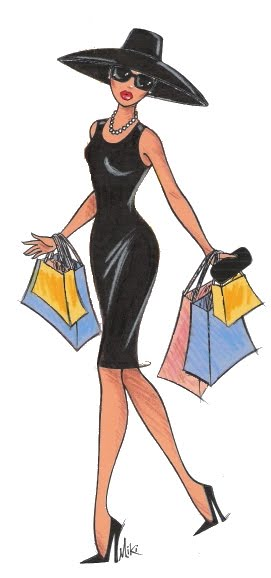 Stylish Woman - Cartoon