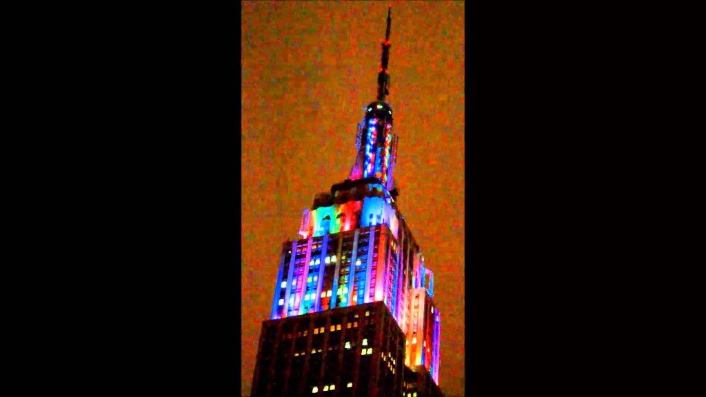 Empire State Building, New Year's Eve 2015