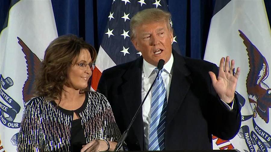 Sarah Palin, Donald Trump photo:today.com