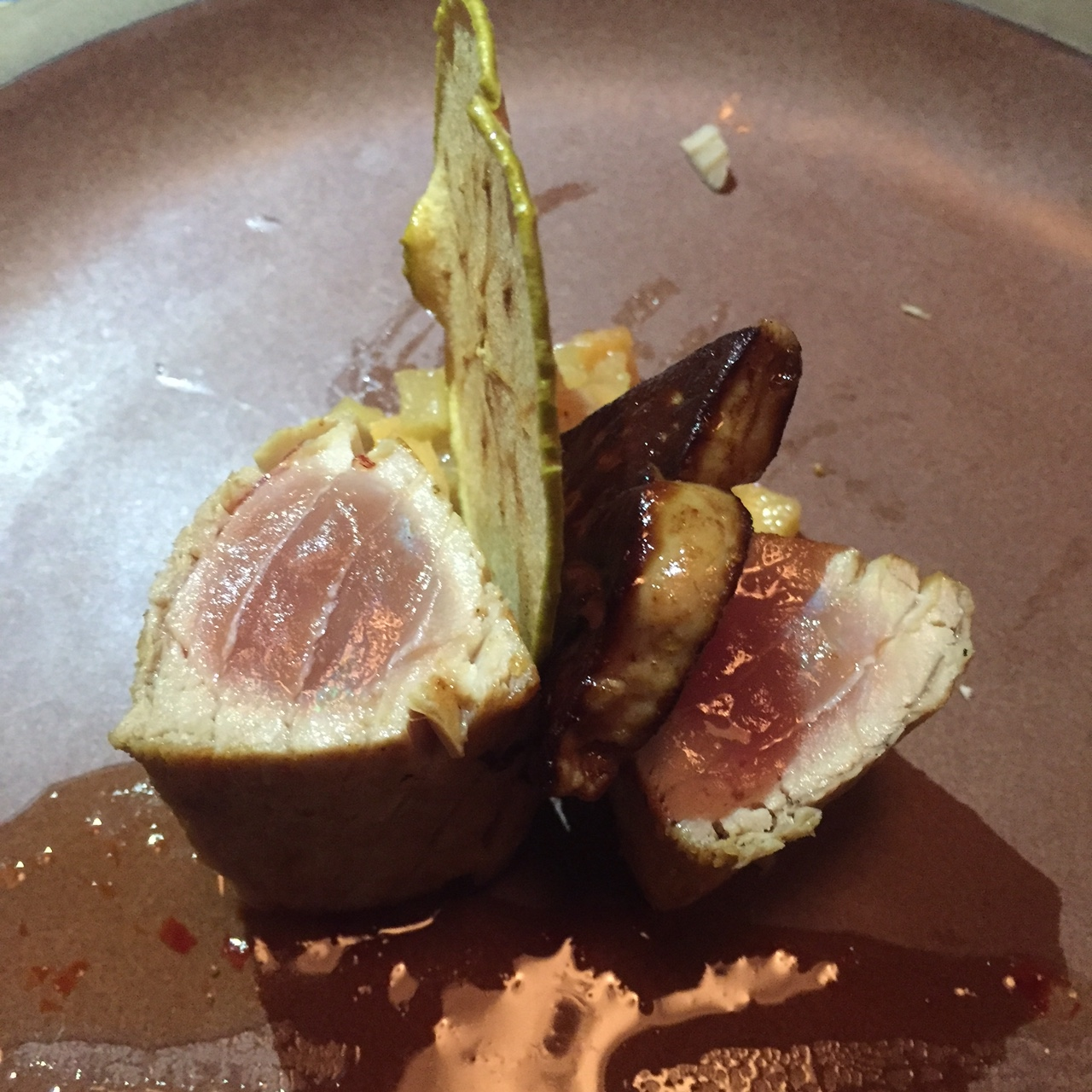 Seared Tuna with Foie Gras