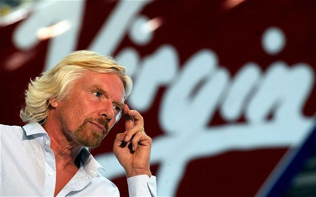 Sir Richard Branson photo:telegrapg.co.uk