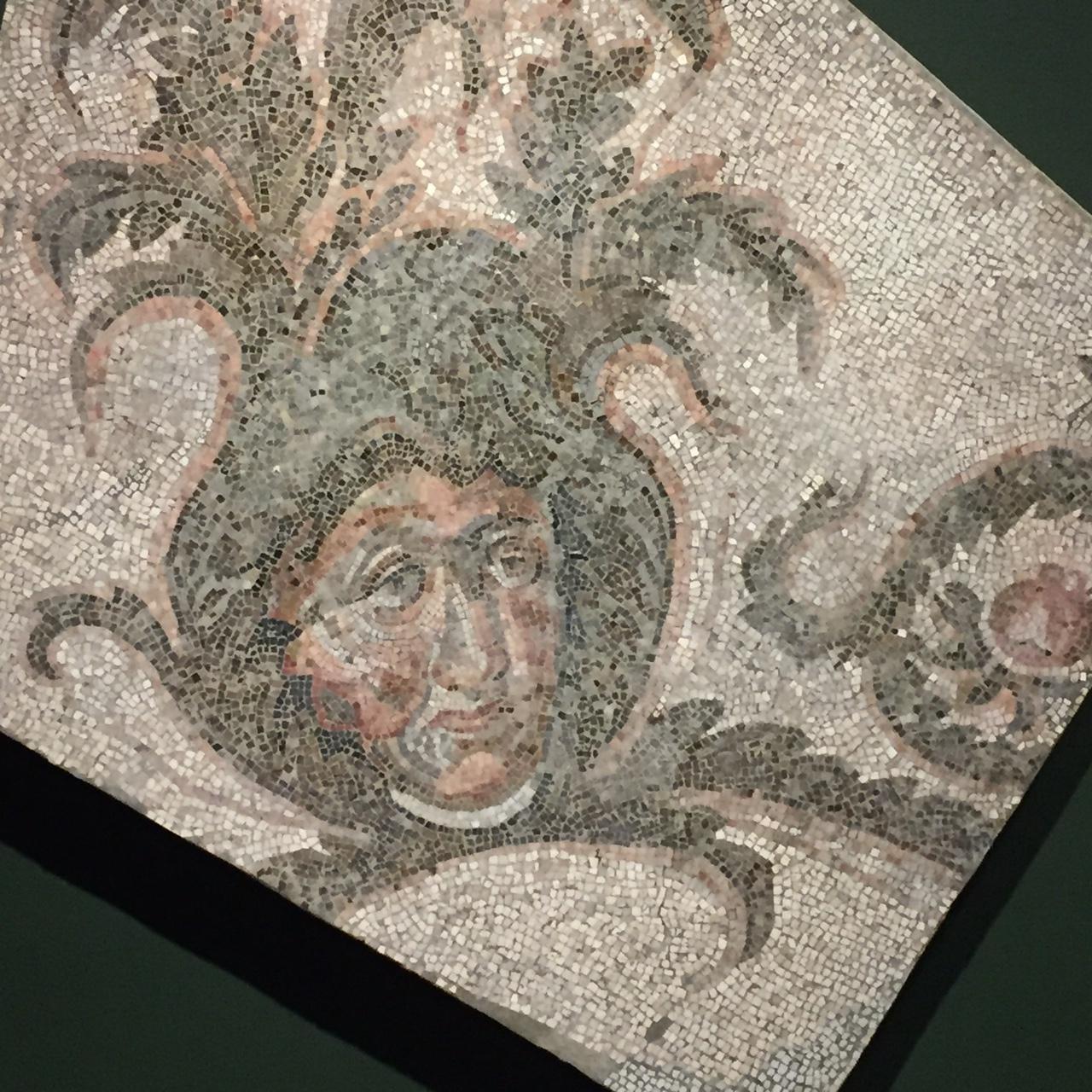 Mosaic, Roman Corner Panel from Bear Hunt