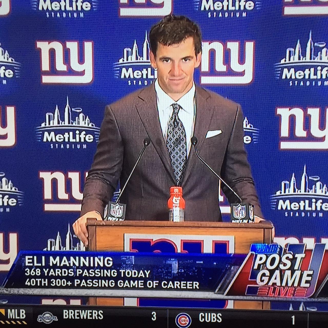 NY Giants QB, Eli Manning