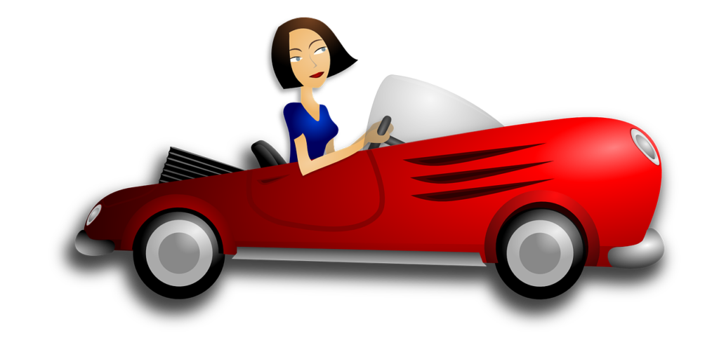 car-cartoon-with-woman-driver-public-domain-from-pixabay-com