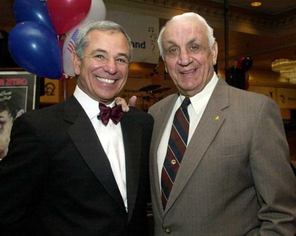 Bobby Valentine and NY Giants Great, Andy Robustelli...2 of My Favs Photo/Stamford Advocate