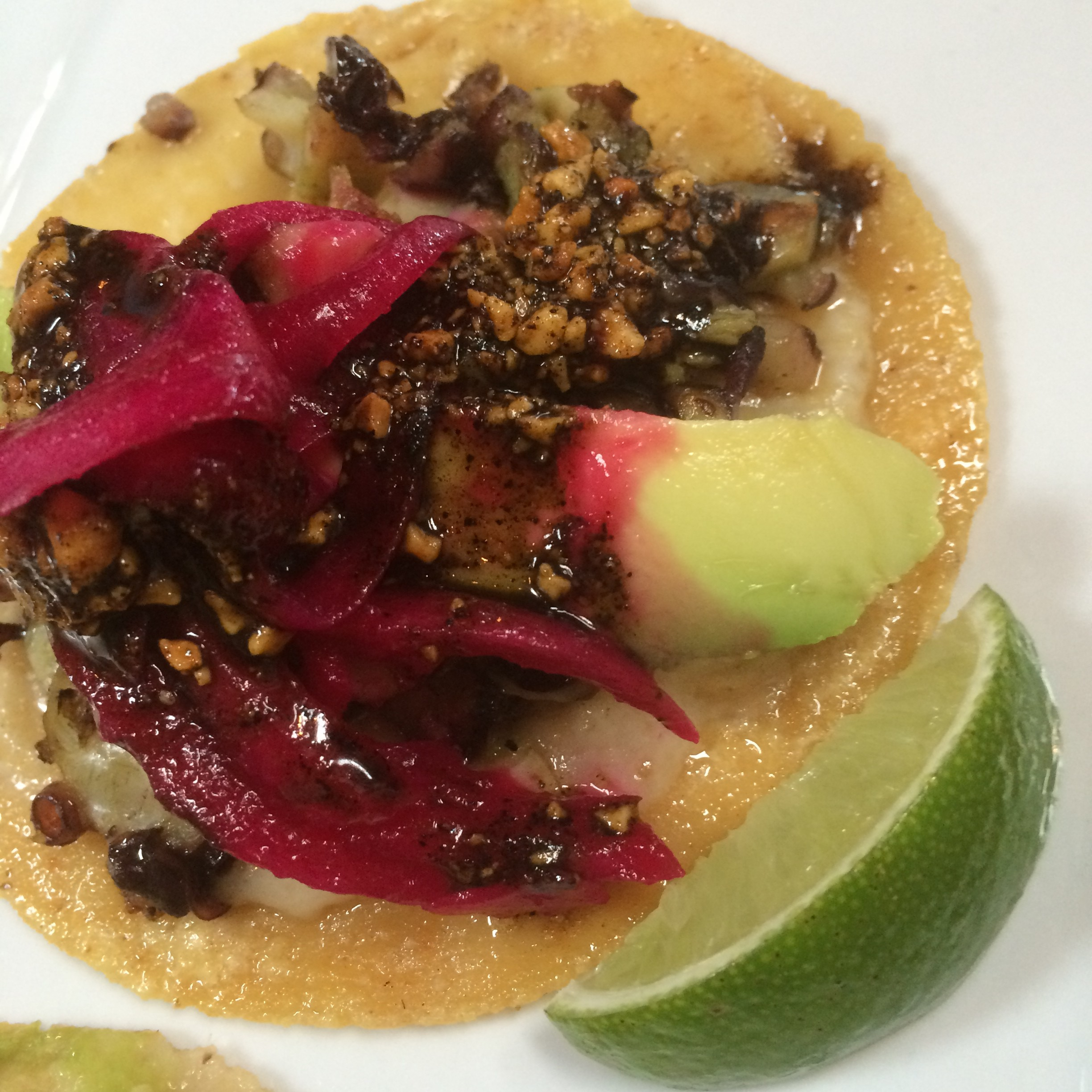 Chroalcoal Grilled Octopus Taco