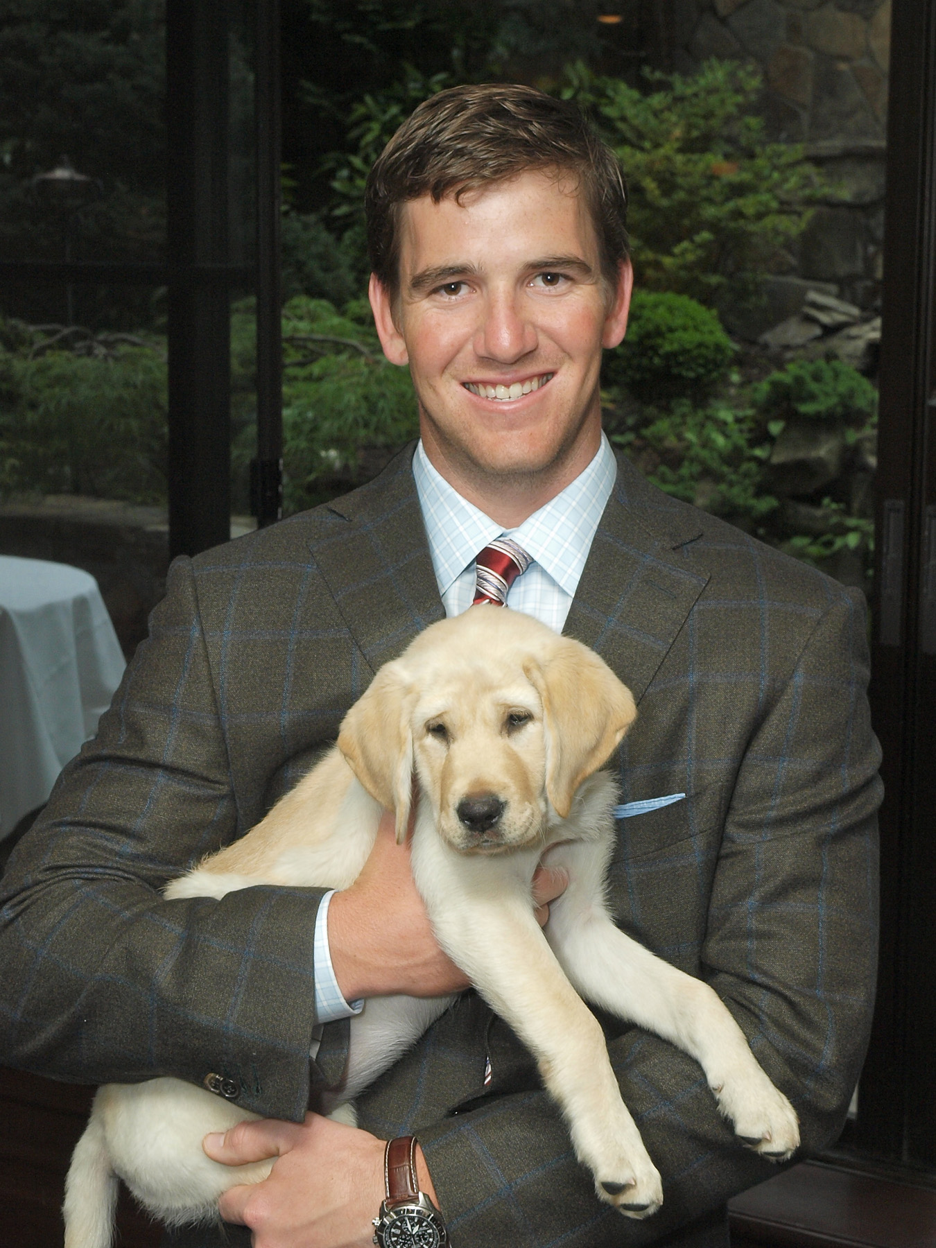 Eli Manning and friend