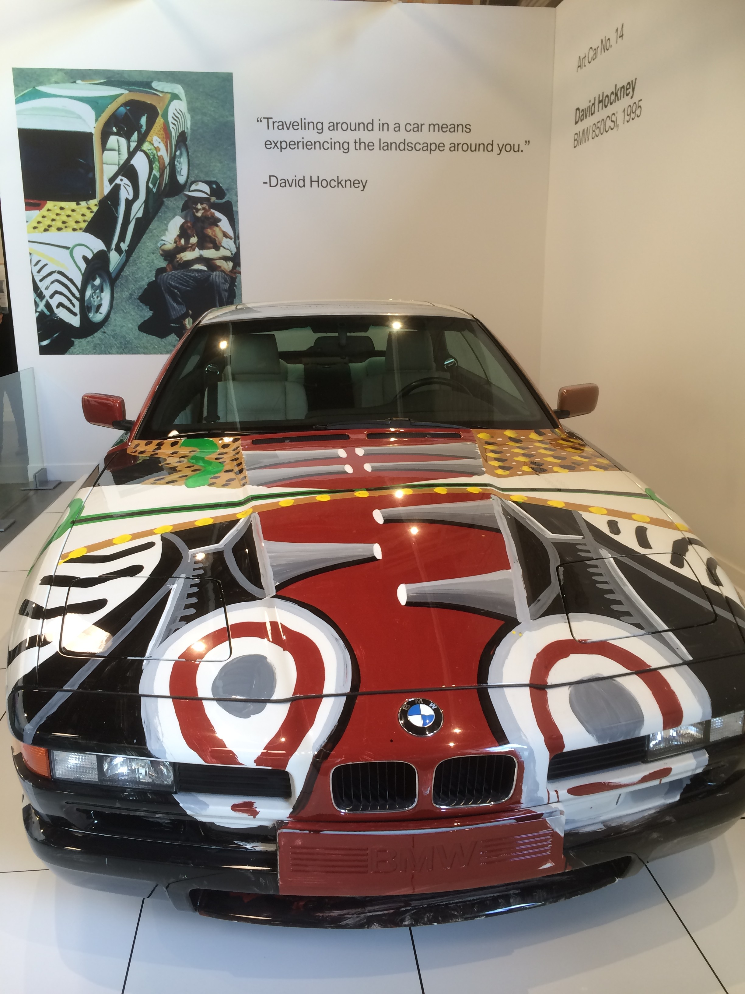 BMW Painted By David Hockney
