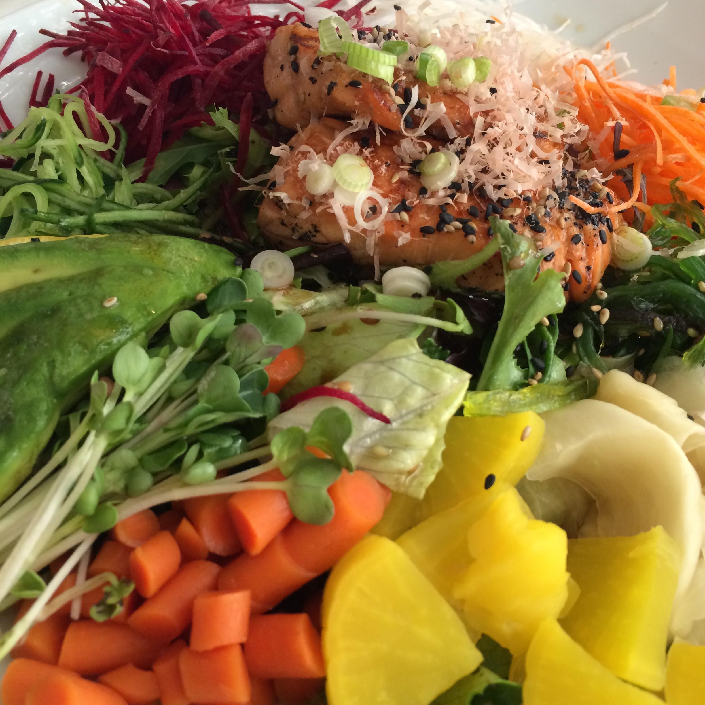 Japanese BBQ Salmon Salad