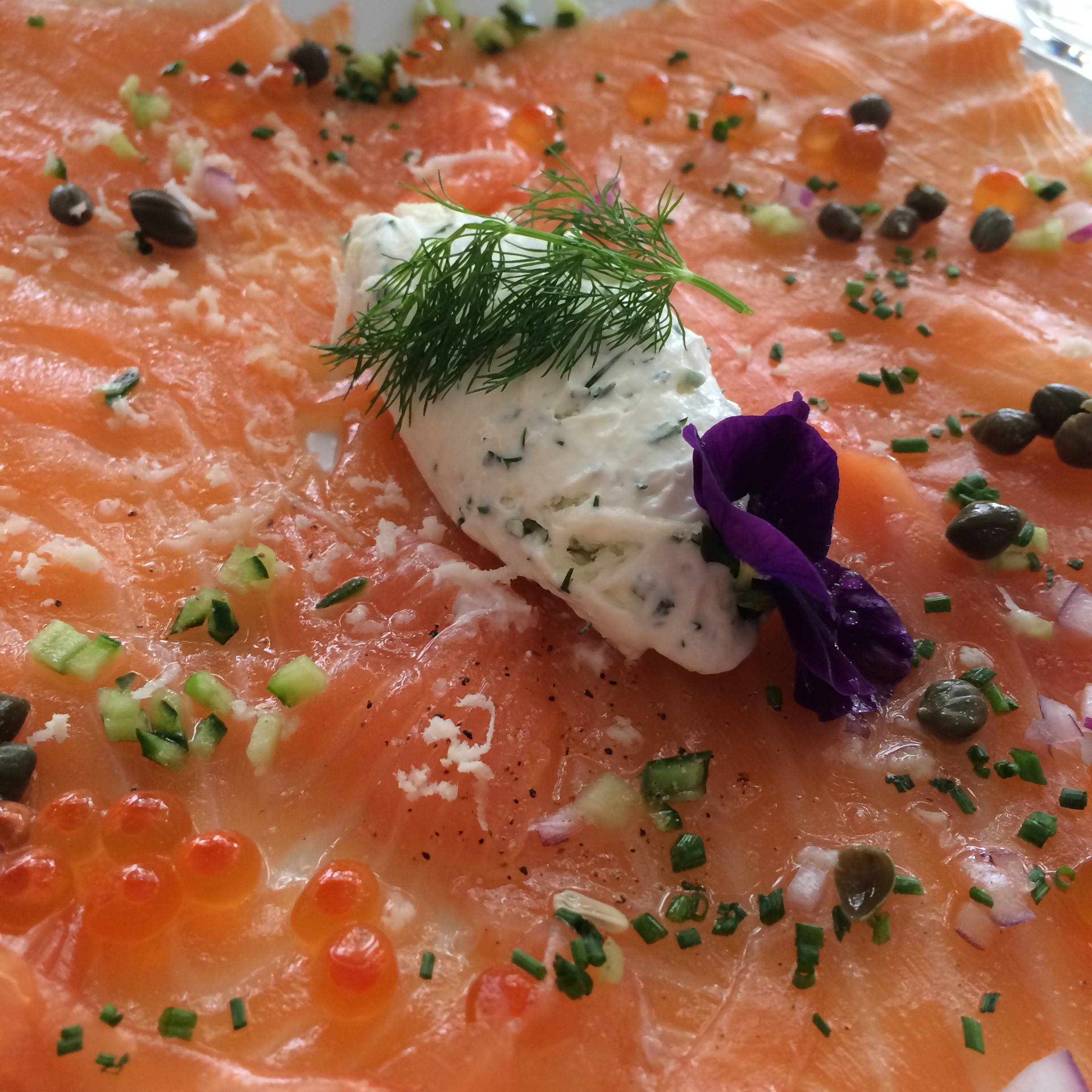 House Cured Smoked Salmon