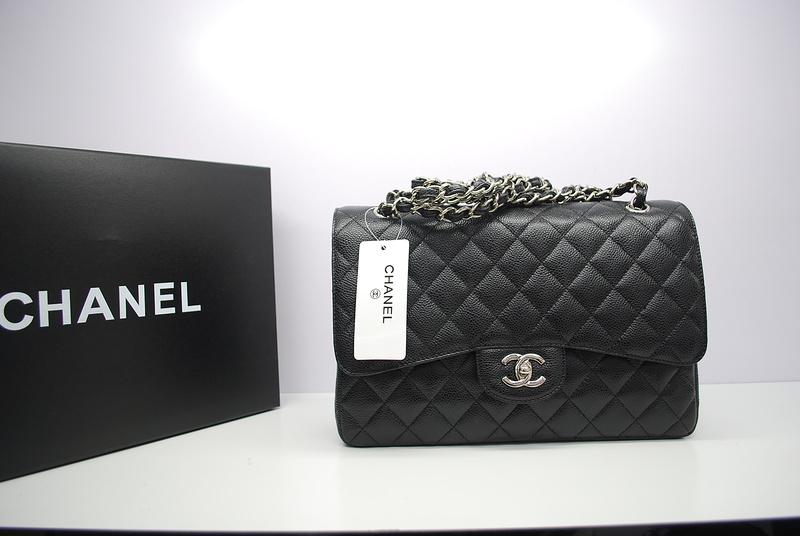 Chanel Jumbo Double Flap Caviar Bag