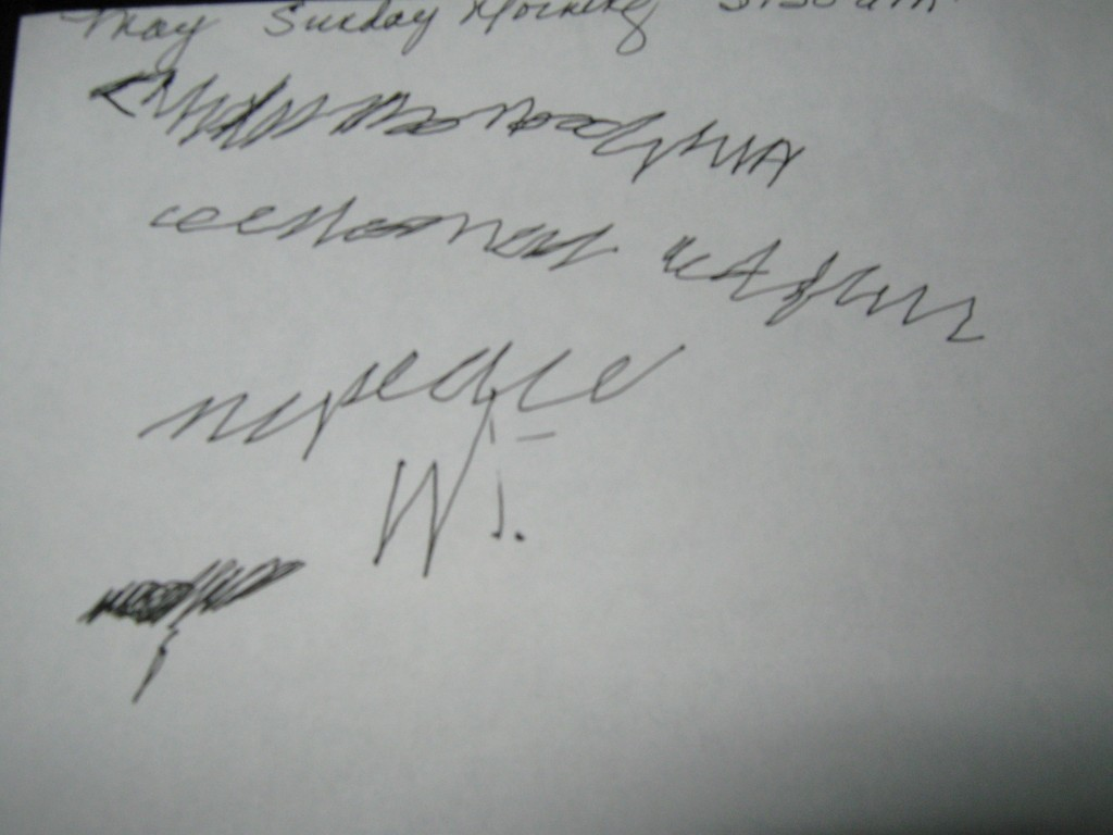 Example of Automatic Writing...This Is Not The Work of Abigail