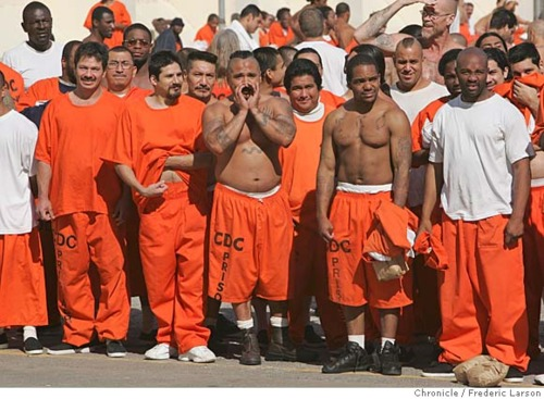 Orange Is The New Black at A's and Raider Games...San Quentin Prisoners Look Just like A's and Raider Fans