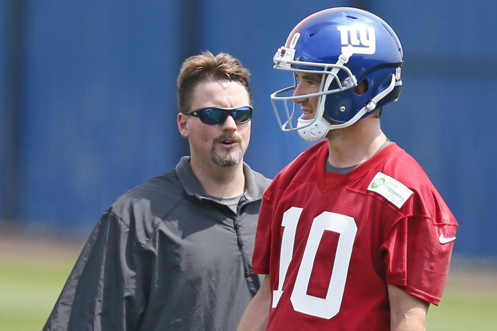 Ben McAdoo, Giants Offensive Coordinator, Giants QB Eli Manning
