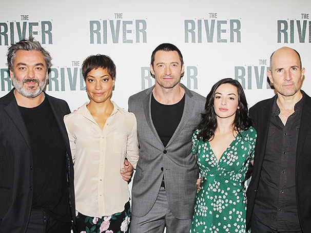 Jez Butterworth, Cush Jumbo, Hugh Jackman, Laura Donnelly, Director Ian Rickson photo/broadway.com