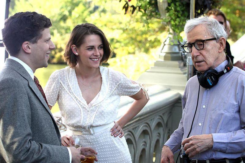 Jesse Eisenberg, Kristen Stewart, Woody Allen