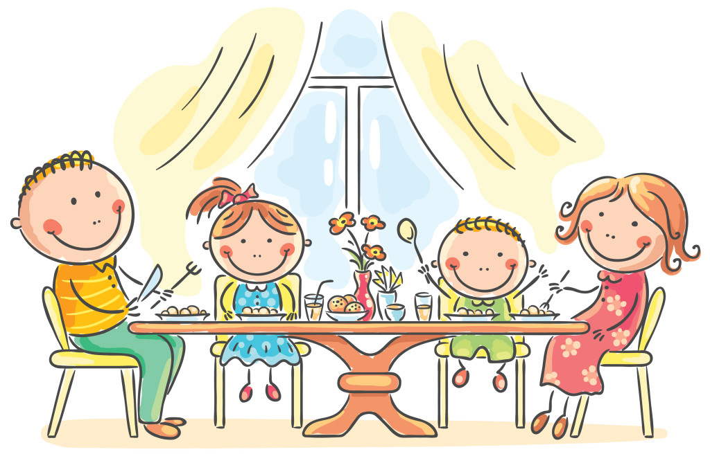 cartoon-family-eating-dinner-361819