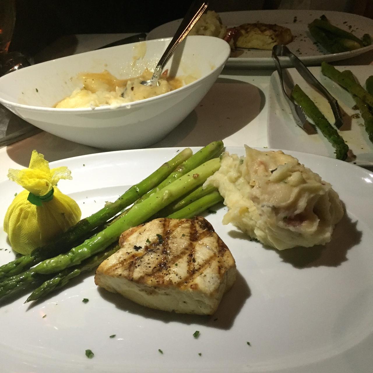 Swordfish, Lobster Mashed Potatoes