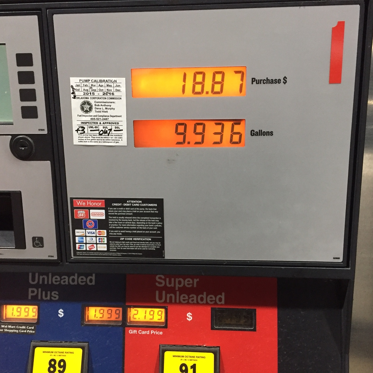 Gas in Oklahoma